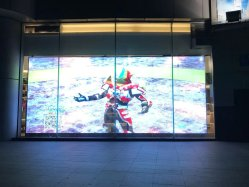 for Advertising with High Brightness and HD Sunlight Readable LED Transparent Display