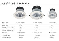 LED Lighting with High Power/25W Rotatable COB LED Spot Lights