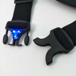 LED Buckle Waterproof Ultra Slim Lycra Exercise Fitness Sport Running Race Belt Waist Pack Bag