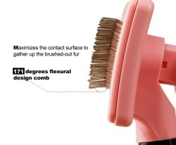 Wholesale Durable Self Cleaning Silicone Stainless Steel Pet Hair Remover Comb Dog Brush