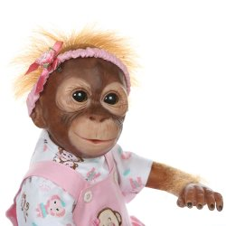New 52cm Handmade Detailed Paint Reborn Baby Monkey Newborn Baby Collectible Art High Quality Doll