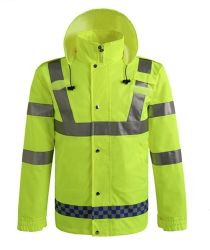 Waterproof and Breathable High Visibility Safety Workwear Jacket