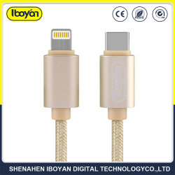 Mobile Phone Fast Charger Lightning USB Data Cable with Type-C Output