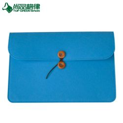 Customized Felt Unisex Notebook Laptop Bag Sleeve Case with Button