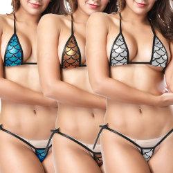 46c3bb24f07 Sexy Women Eye-Catching Shiny Bikini Hot Micro Swimsuit Thong Bikini