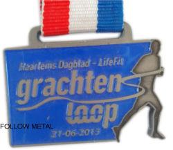 Custom Challenge Medal, Soft Enamel, Zinc Alloy Material, Running