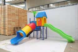 Plastic Outdoor Playground Slide Amusement Equipment with Ce/ISO Certificate