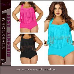 f645d492bca 2015 Fat Women Tassel Plus Size Bikini Swimwear
