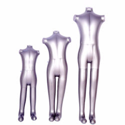 Full-Body PVC or TPU Kids 3 Sizes Without Arm Inflatable Air Strang Mannequin Sets