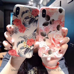 OEM Glossy Touch Feel Custom Floral Cell/Mobile Phone Case for iPhone X/Xsmax/Xr/Samsung S10/Note9 Full Models Available