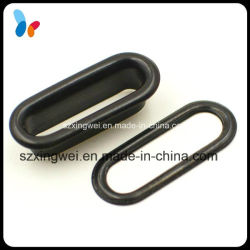 Black Painted Metal Oval Eyelet for Bags