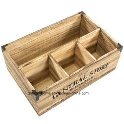 Vintage Wooden Crate Storage Box Milk Bottle Cutlery Holder  sc 1 st  Made-in-China.com & China Wooden Cutlery Box Wooden Cutlery Box Manufacturers ...