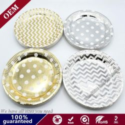 Shiny Iridescent Hot Sale Popular Disposable Paper Plate for Gifts and Party