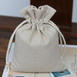 Cheap Wholesale Cotton Fabric Drawstring Bag