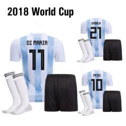 2018 New World Cup Wholesale Soccer Jersey Blue and White Soccer Uniforms  Camisetas De Futbol d992df628