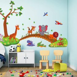 Lovely Animal Cartoon Wall Sticker Kids Room Decortion