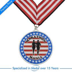 ODM Enamel Sport Running Marathon Medal Paints Quest Olympics Race