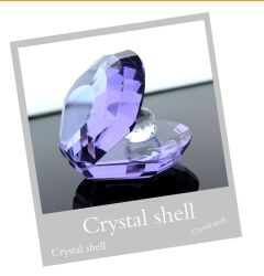 Colourful Crystal Shell Crystal Craft for Wedding Gift