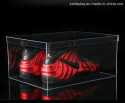 Clear Acrylic Sports Shoes Storage Display Case with Lid