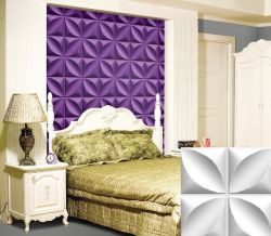 Water-Proof Wall Decorative Tree Leaf Shape Chrysalis Pattern Design 3D Glue on Wall Panel/Wall Flats