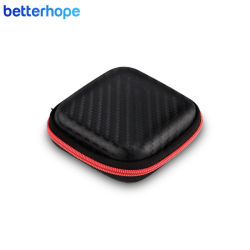 Hot Sales Portable EVA Earphone Bag Earbuds Hard Case Headphone Storage Carrying Bag SD Card Cable