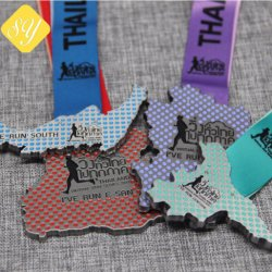 Supply Factory Religious Honor Custom Glitter Award Sports Medal Ribbon