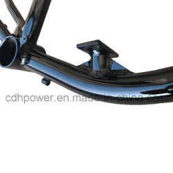 2.4L Gas Frame with Gas Tank Built in Bicycle Frame with Rear Disc Brake Mounting Holes --Black Color