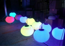 rechargeable battery rgb full color outdoor led ball light for party christmas
