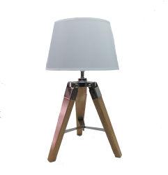 Natural Color Mini Tripod Table Lamp With Tc Shade Lighting Light Led