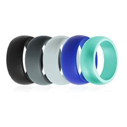 Promote 8mm Silicone Flexible Couple Rings for Sports, Wedding, Football Rings