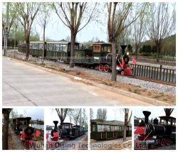Playground Parent-Offspring Mini Rail Train Powered by Diesel 54 Seats