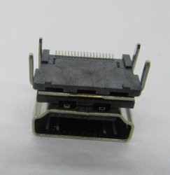 HDMI a Type Receptacle 19p SMT Shell DIP