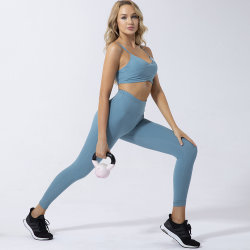 Sport Yoga Sexy Bra and Gym High Waist Leggings Panty Fitness Clothes Women 2 Piece Set