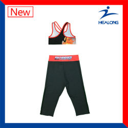 Healong Leggings Set of Women Sports Running Yoga Vest and Shorts Leggings Pants