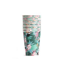 Wholesale Tropical Summer Boho Party Decoration Disposable Custom Paper Cups