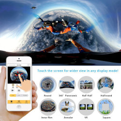 Full HD 360 Degree Camera Vr 3D Sports Mini DV WiFi 16MP 4K Action Camera Vr360