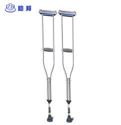 Health Medical Foldable Medical White Metal Disability Walking Cane