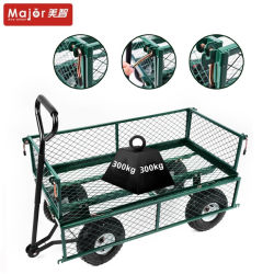 Foldable Metal Garden Mesh Wagon Cart Tc1840A