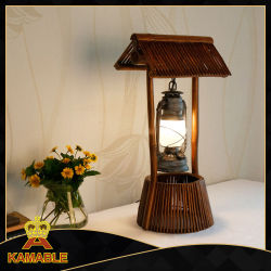 China restaurant table lamps restaurant table lamps manufacturers restaurant bamboo design table lamp kamt 6009b 1 aloadofball Images