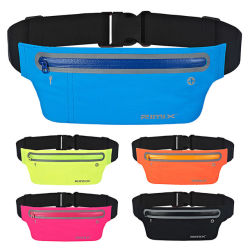 Sports Running Waist Pack for Phone Bag Earphone Reflective Simple training Hiking Waist Bag Pouch Waist Belt for Travel.