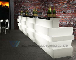 Beer Home Bar Counter Design Juice Acrylic Solid Surface Commercial Bar  Counters