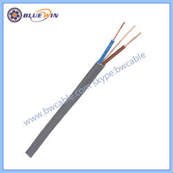 Electrical Wire Electric Cable Power Cable, 2 3 4 Cores Flat Flexible Flex Double Insulated PVC Sheath Wire and Cable Prices Copper Control Cable Rvv Cable
