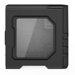 Gaming Computer Case with Mesh Front Panel, Quick Release Bays