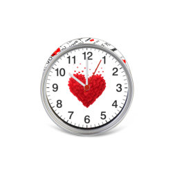 Wholesale Valentine Christmas Promotional Gifts Magnetic Can Tin Clock