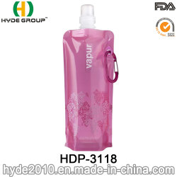 480ml Leakproof Foldable Outdoor Sport Water Bottle Collapsible Water Bag (HDP-3118)