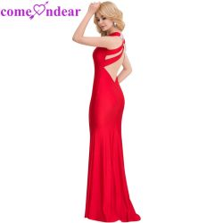 1b41e2b4b3f Best Sale Sequins Red Plus Size Sexy Evening Dresses