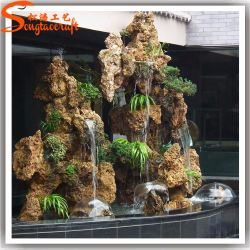 Beau Factory Wholesale Artificial Plastic Water Fountain For Garden Decoration
