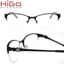 282bded05164 Wholesale Eyewear Metal Material Plus Crystals Optical Frames for Women in  Stock