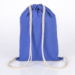 Factory Custom Eco-Friendly Cotton Canvas Sports Drawstring Bag