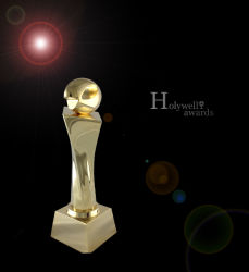 Crsyal Football Trophy Fo Sports Event Use